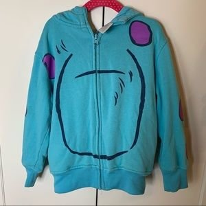 Disney Monster's Inc. Sully Mask Hoodie Sweatshirt